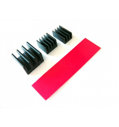 Raspberry Pi Passiv Køling Heat Sink Kit - Sort