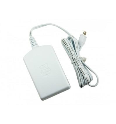 Strømforsyning til Raspberry Pi - 5V 2.5A - Micro USB stik - Hvid