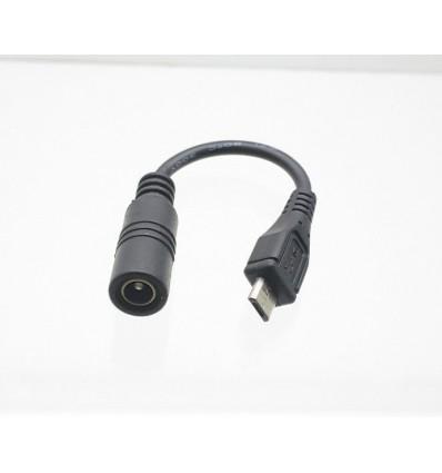 DC5.5 Strømforsyning kabel til USB micro