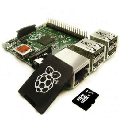 Raspberry Pi - Model B 512MB PLUS med 8GB SD kort