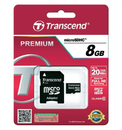Transcend 8GB microSDHC-kort Class10